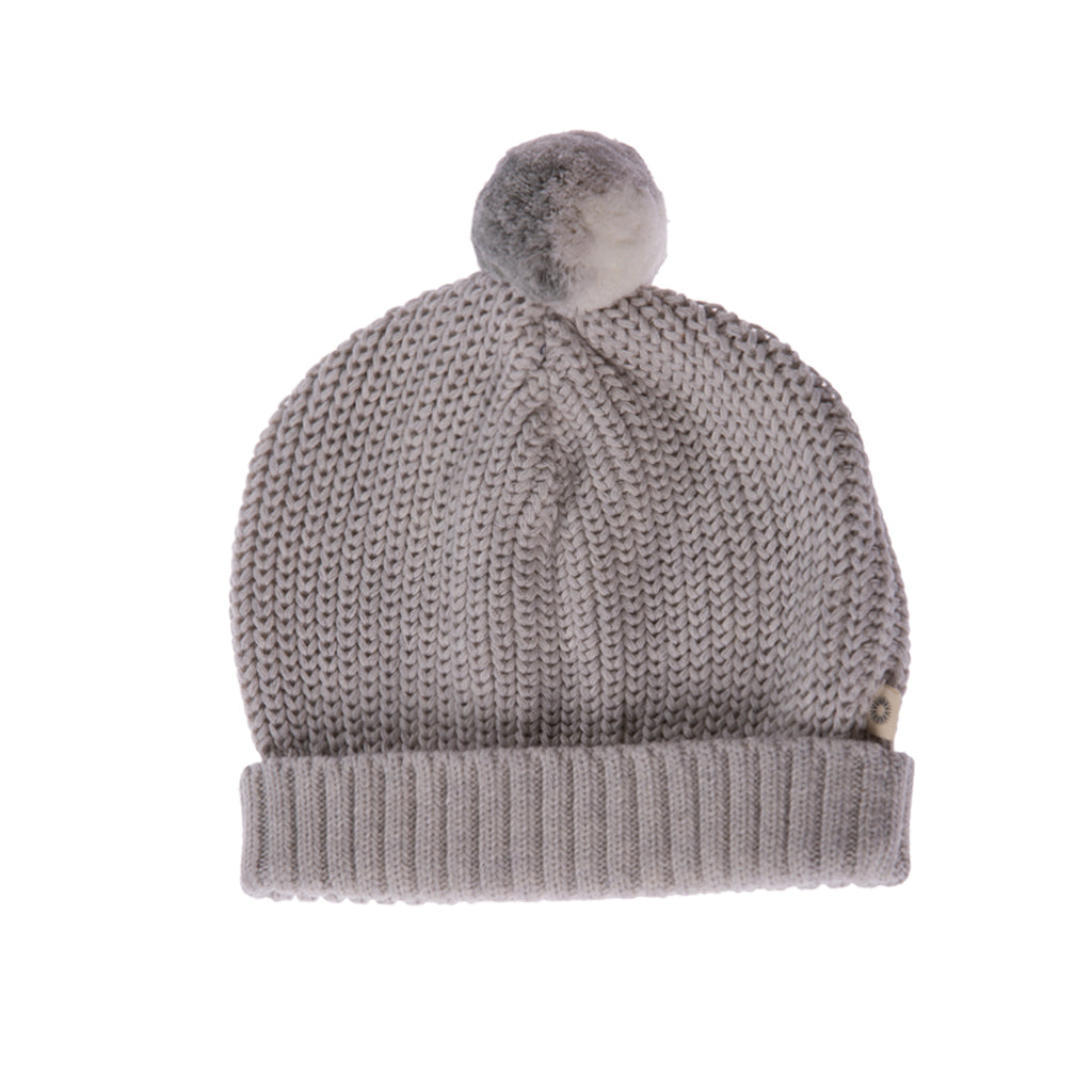 Knitted Beanie - silver