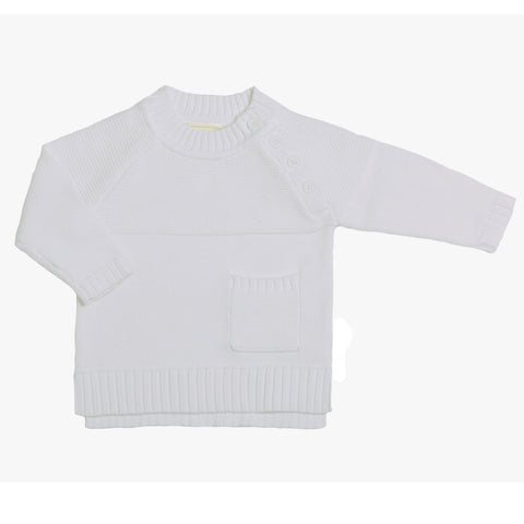 Yoke detail Jumper - Chalk