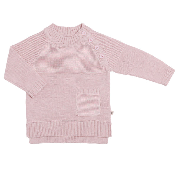 Yoke detail Jumper - Blush Pink