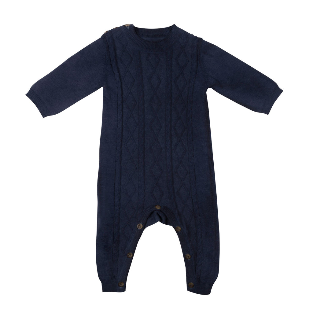 Cable Onesie - Navy