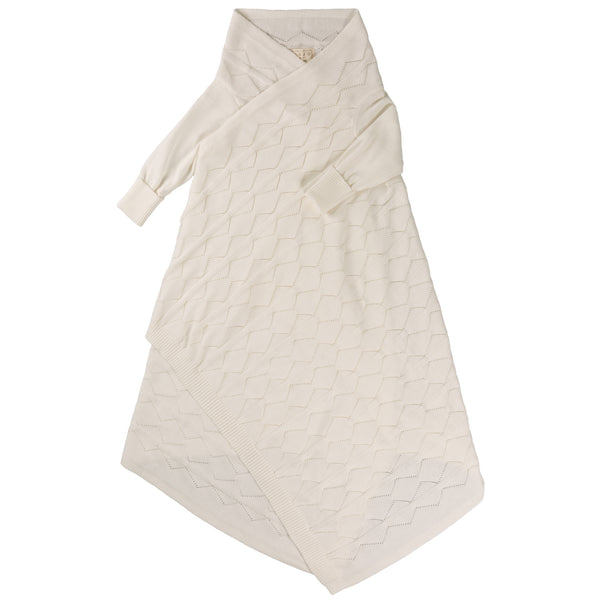 Diamond Lace Pointelle Shwrap™ - Milk