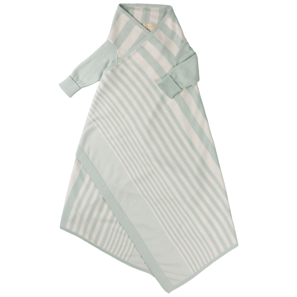 Phased Stripe Shwrap™ - Mint/Ecru