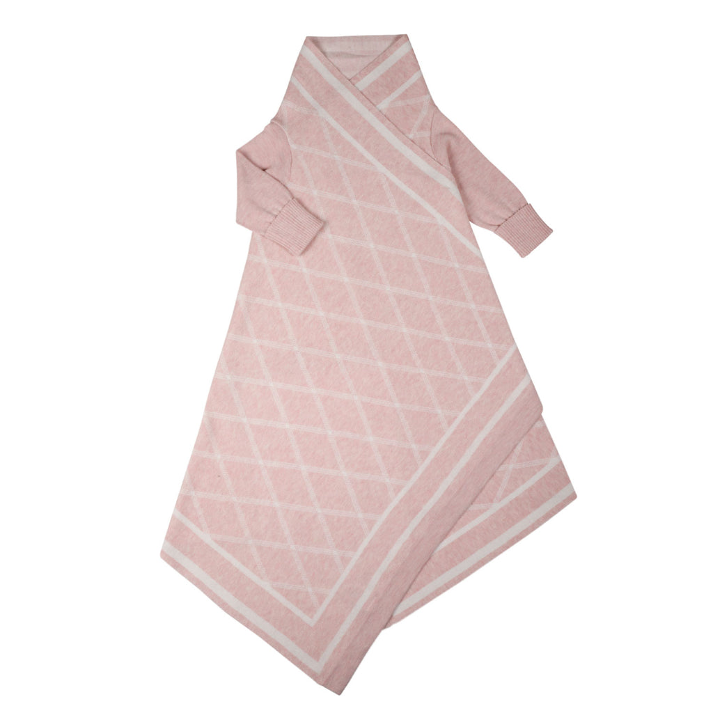 Criss Cross pattern Shwrap™  - Blush/ecru