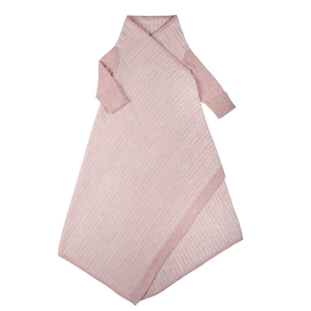 Tuck Stripe Shwrap™ - Blush/Ecru