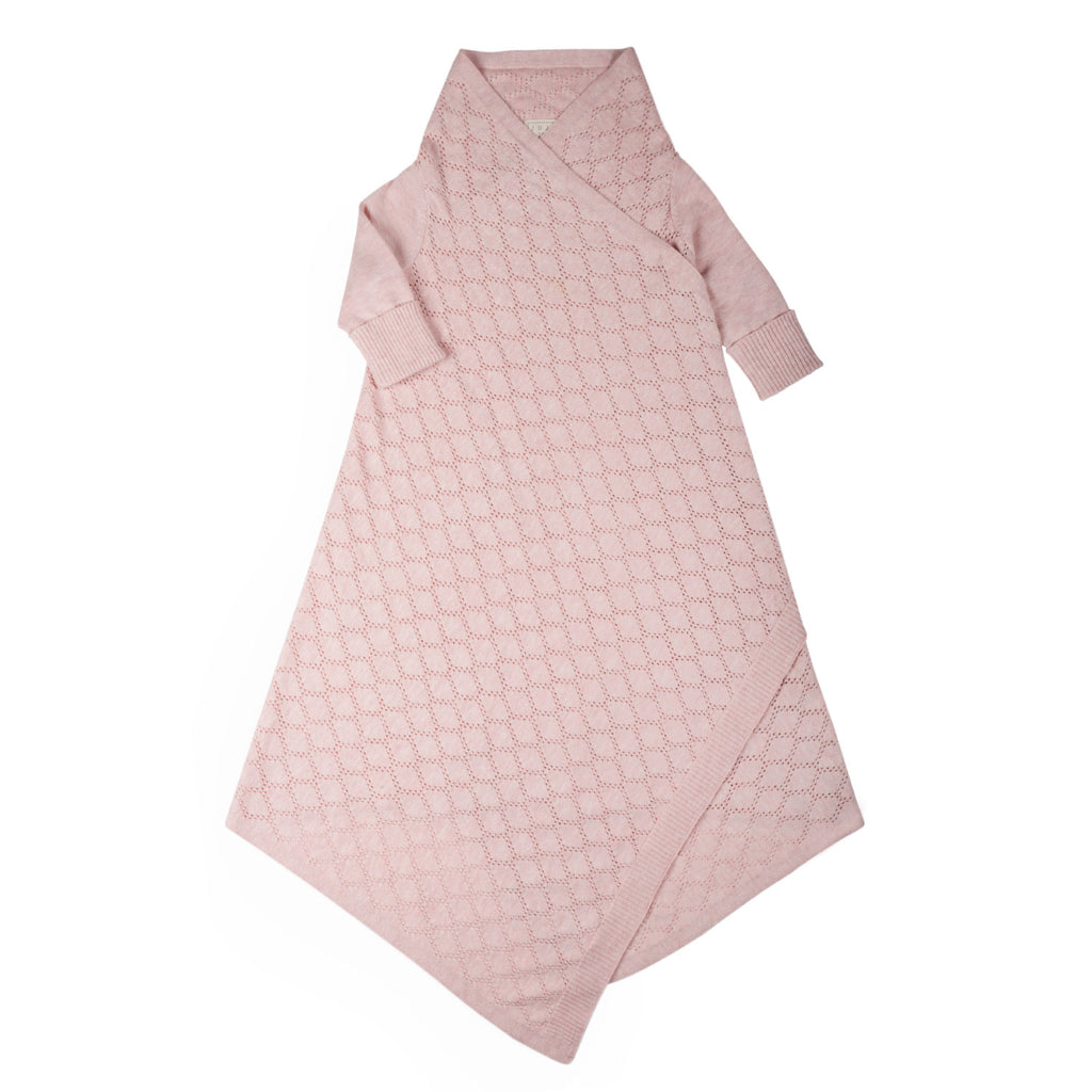 Pointelle Lace shwrap™ - Blush Pink