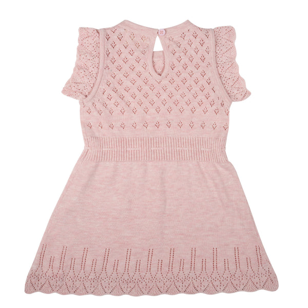 Ditsy Bodice Dress - Blush Pink