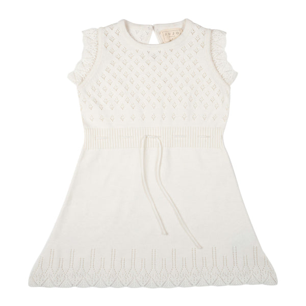 Ditsy Bodice Dress - Milk