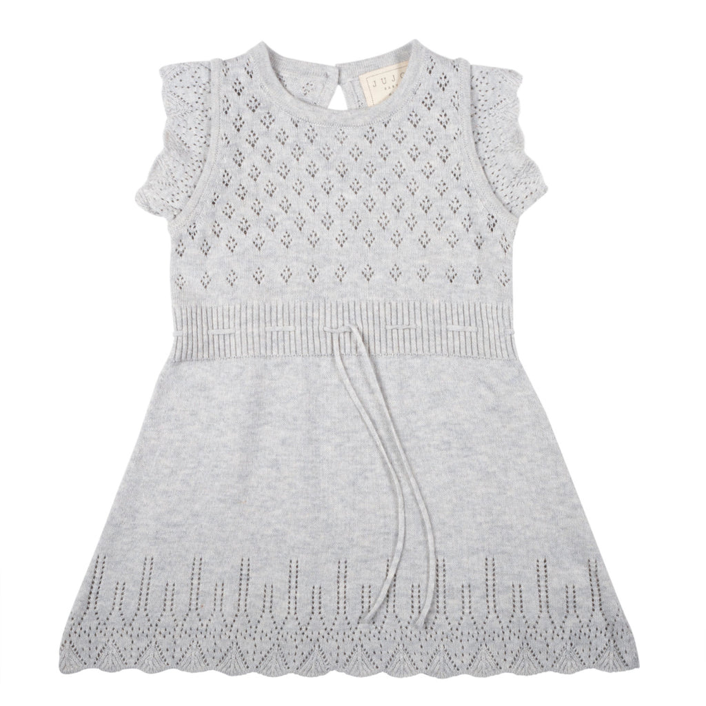 Ditsy Bodice Dress - Silver