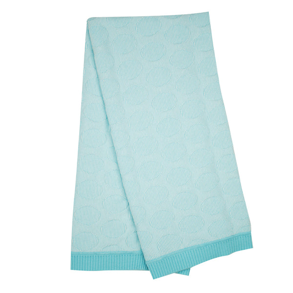 Spot stripe lightweight Blanket - Mint/Ecru