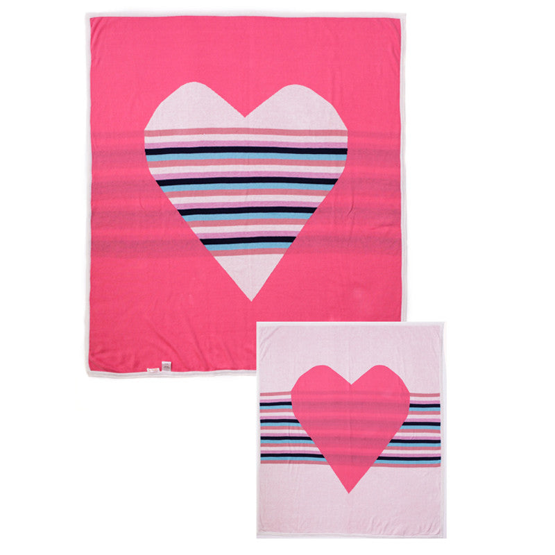 Reversible Heart Blanket