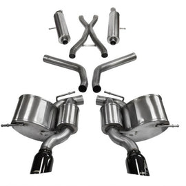Corsa 12+ Jeep Grand Cherokee 6.4L V8 Black Sport Cat-Back Exhaust