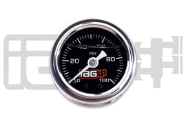 IAG Performance 0-100 PSI Liquid Filled Fuel Pressure Gauge (Black Face)
