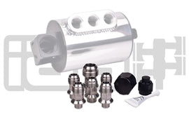 IAG Stainless Steel AN Breather Fitting Set for 2004-18 Subaru STI, 05-14 WRX, 04-13 FXT, 05-09 LGT