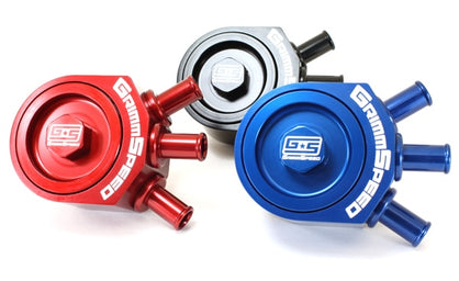Grimmspeed Air Oil Separator Red - Subaru 08+ WRX/ ALL LGT