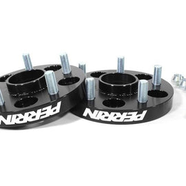 Perrin Performance Wheel Spacers 25mm DRM Style for 02-14 WRX or 5-100, 56mm Hub Black Anodized