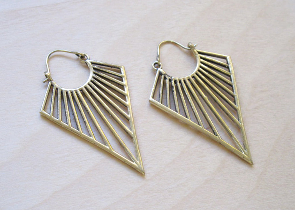 Deco Triangle Earrings