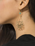 Hanging Lotus Earrings
