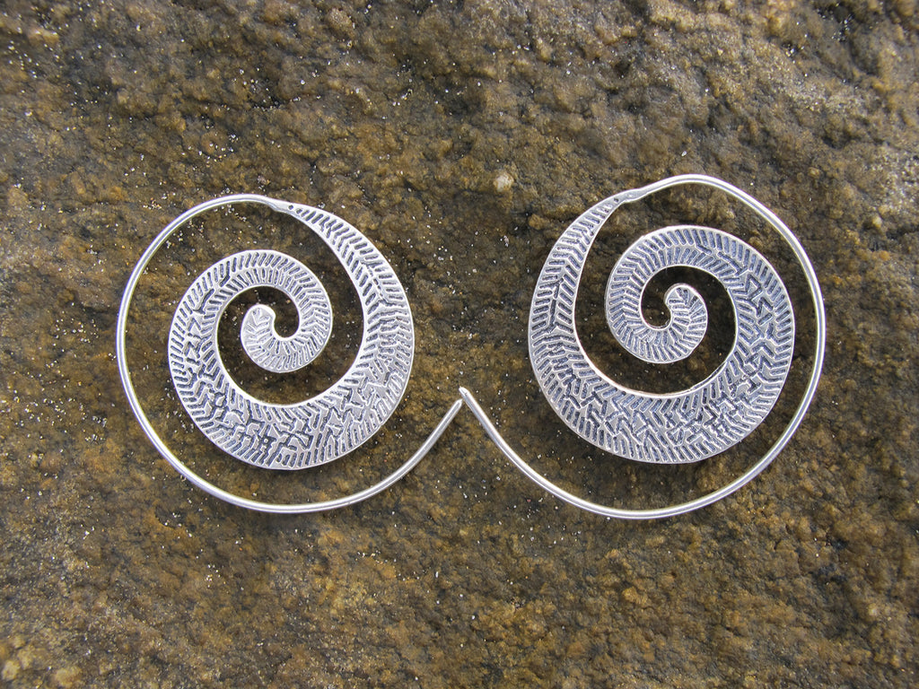 Spiral Leaf Earring Small