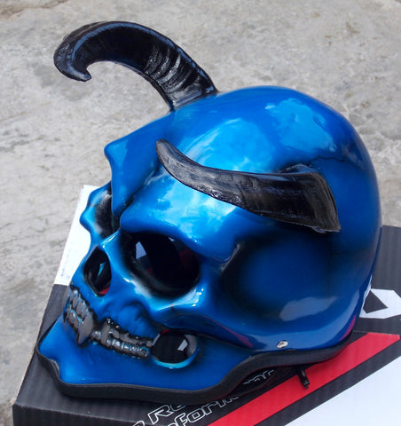 Devils Goat Demon Motorcycle Helmet Mask