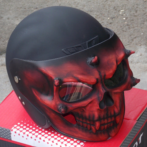 Dark Knight Skull Motorcycle Helmet