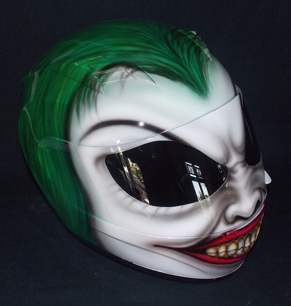 Custom Order in Black and Grey The Joker Helmet Batman The Dark Night Clown