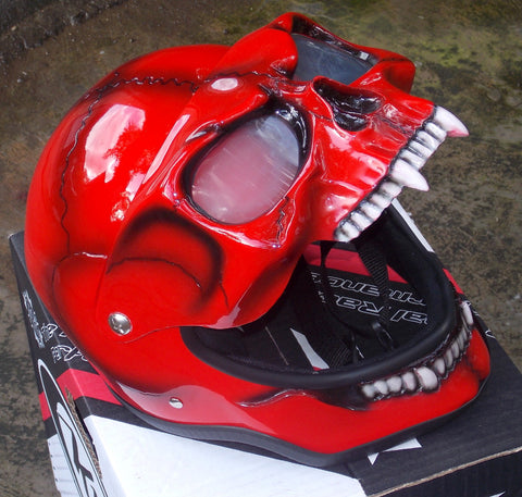 Death In Red 3D Helmet