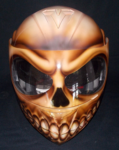 Flaming Zombie Skull Walking Death Custom Helmet