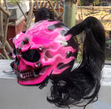 Girls Helmet Pink Fire Skull meets DOT helmet
