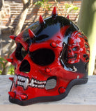 Punk meets Skull Mohawk Blood Monster 3D Helmet Death Mask