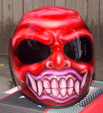 Bali Devil Demon Custom Airbrush Painted DOT Helmet