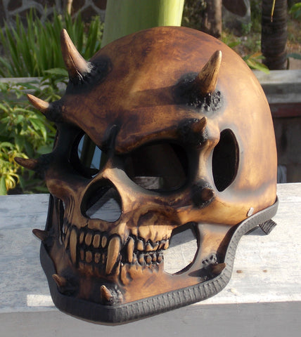 Beast On the Road Monster Reaper Motorcycle Helmet Spikes 3D