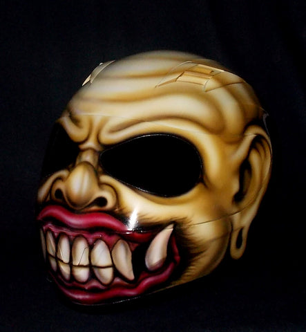 Bali Demon Monster Ogah Ogah Airbrush Helmet