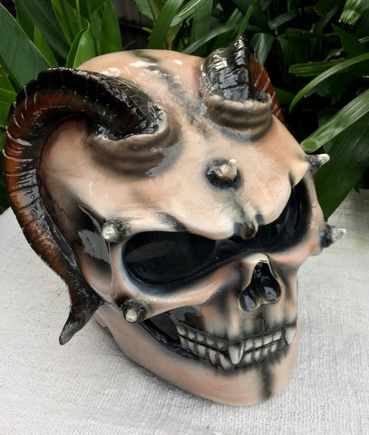 Devils Goat Demon Monster Satan Custom Damon Monster Helmet Devil 3D