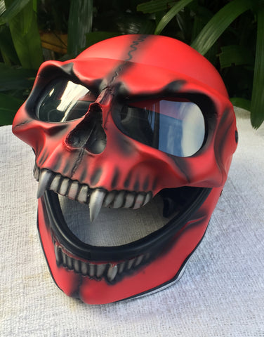 Flip Up Helmet Bloody Ghost Rider Visor Full face