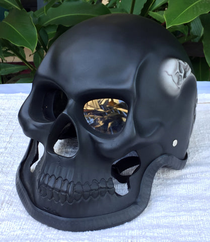 Black Death Ghost Rider Grim Reaper Motorcycle Helmet