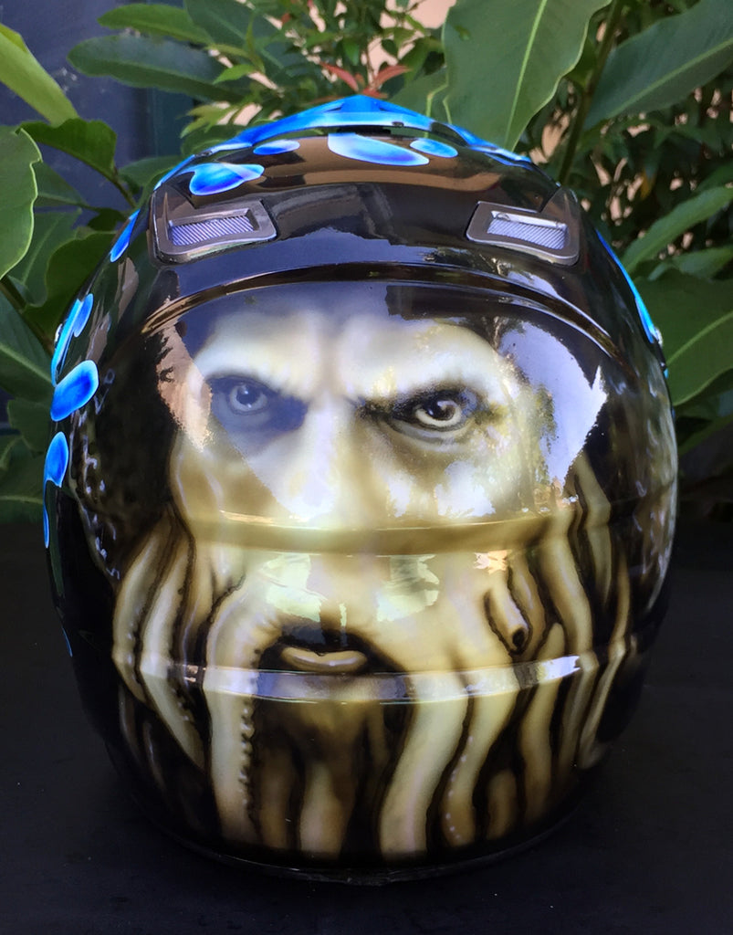Motorcycle Airbrush Helmet Davy Jones Pirates of Caribbean