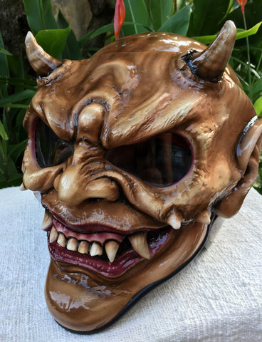 Hellboy Horn Satan Custom Demon Monster DOT Helmet Devil 3D