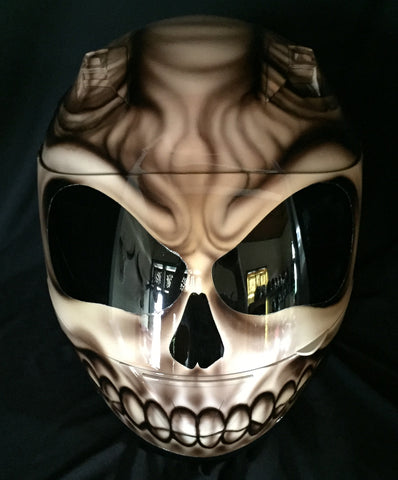 Devil's Goat from Hell Airbrush Motorcycle Helmet Custom Made Evil Satan