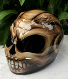 Devil's Goat from Hell Helmet Airbrush Motorcycle Helmet Custom Made Evil Satan