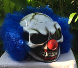 Killer Clown Nightmare Halloween Blue Clown Helmet