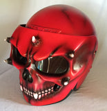 Airbrush Skull Helmet Blood Lust Custom Made DOT Skeleton Blood Red Ghost Rider