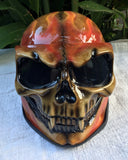 Burning Death Skull Motorcycle Helmet Airbrushed Flames