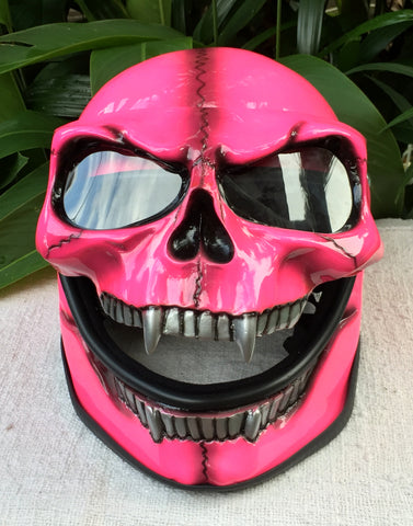 Girls Motorcycle Helmet Pretty Pink Sugar Skull Lady Helmet