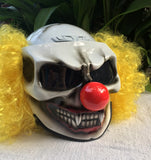 Pennywise Killer Clown Custom Motorcycle Helme Clown Scary Halloween IT Yellow Hair