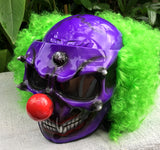 Killer Scary Clown Nightmare Halloween Purple Helmet Green Hair
