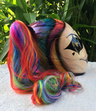 Girls Helmet Cute Girls Harley Quinn Amazing Rainbow Ponytails