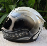 Bad Ass Skull Smiley Custom Helmet Big Smile Motorcycle Helmet