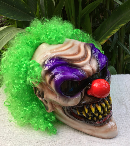 Demon Monster Killer Clown Custom Motorcycle Helmet Crazy 3D Clown Scary