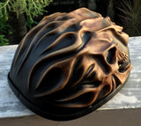 Low Profil Cruiser Half Motorcycle Helmet Skull Death Fire Skulls