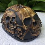 Bone Yard Low Profil Cruiser Half Motorcycle Helmet Skull Death Skulls